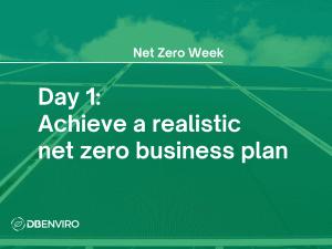 v a realistic net zero business plan